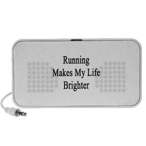 El funcionamiento hace mi vida más brillante iPod altavoz