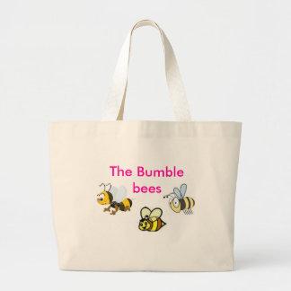 El funcionario manosea el bolso de las abejas bolsa tela grande