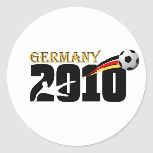 El fußball 2010 del fútbol de Alemania aviva el Pegatina Redonda