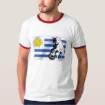 El futbol 2010 de Charruas del fútbol de Uruguay Playera