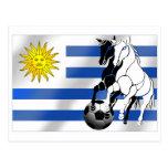 El futbol 2010 de Charruas del fútbol de Uruguay Postal