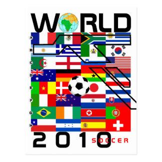 El fútbol 2010 todos del mundial combina la postal