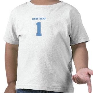 El fútbol adaptable azul del oso del bebé se camisetas