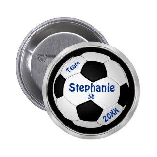 El fútbol adaptable fija SU TEXTO y COLORES Pin Redondo De 2 Pulgadas