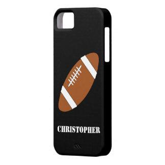 El fútbol americano apenas añade nombre iPhone 5 carcasas