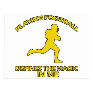 el fútbol americano se divierte diseños postal