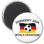 El fútbol de Alemania defiende 2014 Imán De Nevera