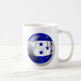 El futbol de cinco estrellas del balón de fútbol d tazas de café