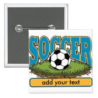 El fútbol de encargo añade el texto pin cuadrada 5 cm