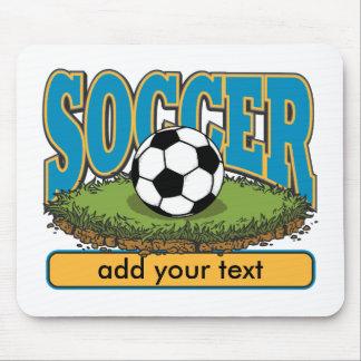 El fútbol de encargo añade el texto mouse pad