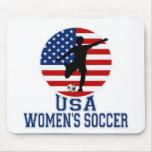 El fútbol de las mujeres de los E.E.U.U. Mouse Pad