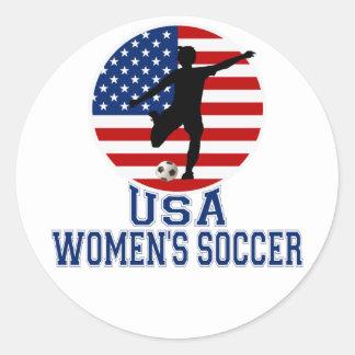 El fútbol de las mujeres de los E.E.U.U. Pegatinas