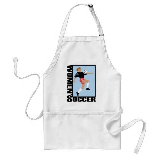 El fútbol de las mujeres delantal