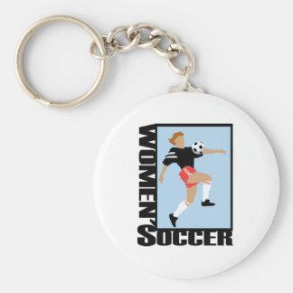 El fútbol de las mujeres llaveros
