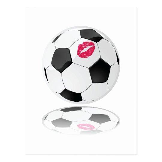 El fútbol de las mujeres tarjetas postales