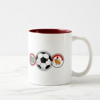 El fútbol de Paraguay badges los regalos del balón Tazas De Café