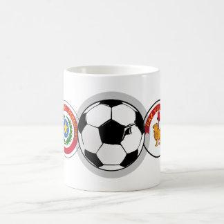 El fútbol de Paraguay badges los regalos del balón Tazas