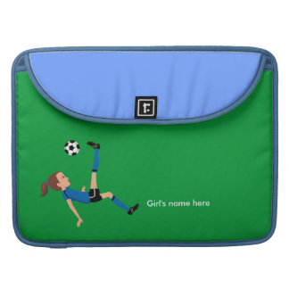 El fútbol del chica golpea la manga de Macbook con Fundas Para Macbook Pro