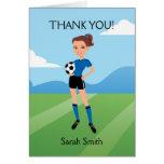 El fútbol del chica ilustrado le agradece cardar tarjetas