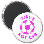 El fútbol del chica iman de frigorífico
