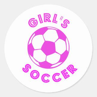 El fútbol del chica pegatina redonda