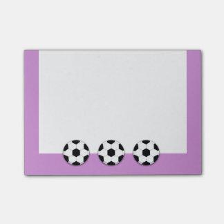 El fútbol del coche del fútbol PERSONALIZA Post-it® Notas