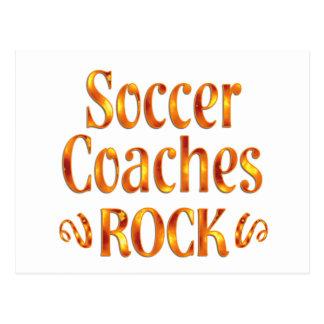 El fútbol entrena la roca tarjetas postales