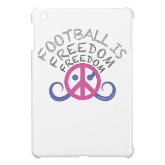 El fútbol es brillante fucsia del iPad del caso de