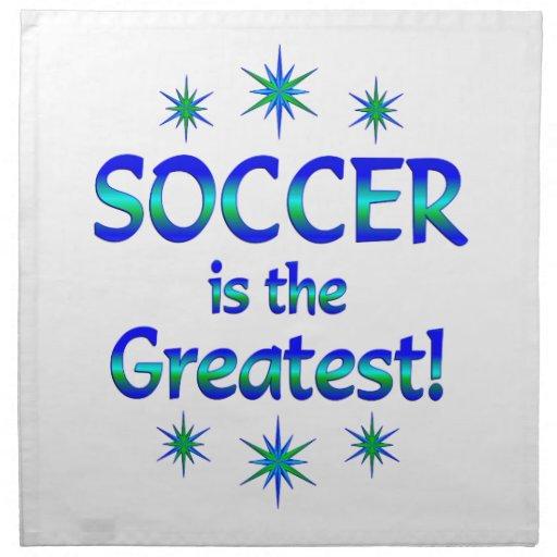 El fútbol es el más grande servilleta