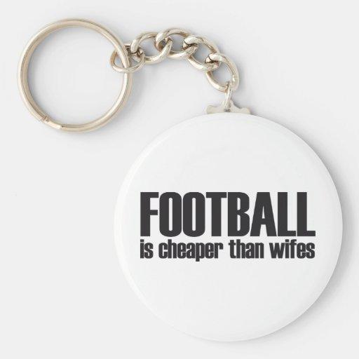 el fútbol es más barato que wifes llavero personalizado