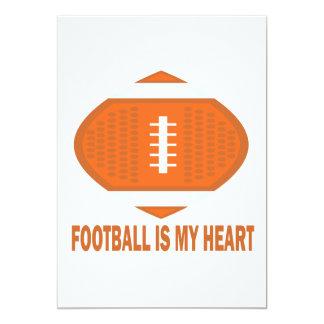 """El fútbol es mi corazón invitación 5"""" x 7"""""""