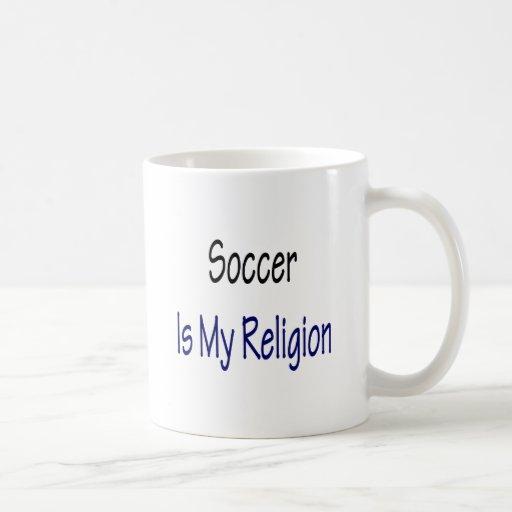 El fútbol es mi religión taza de café