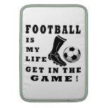 El fútbol es mi vida fundas para macbook air
