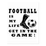 El fútbol es mi vida postal