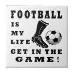 El fútbol es mi vida teja cerámica
