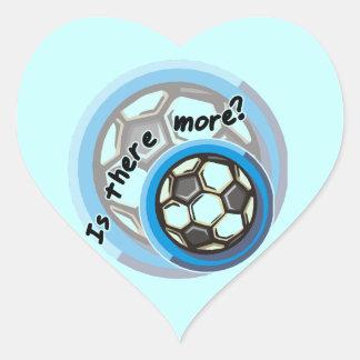 El fútbol está allí más camisetas y regalos pegatinas de corazon personalizadas