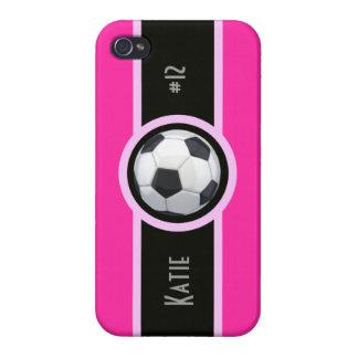 El fútbol femenino rosado personalizó la caja de I iPhone 4 Cobertura