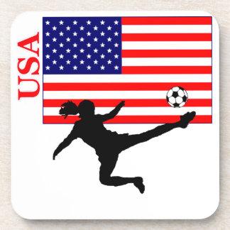 El fútbol los E.E.U.U. de las mujeres Posavasos De Bebida