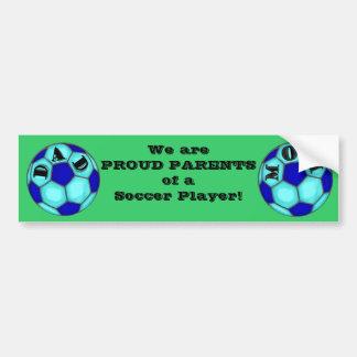 El fútbol orgulloso Parents a la pegatina para el  Pegatina Para Auto