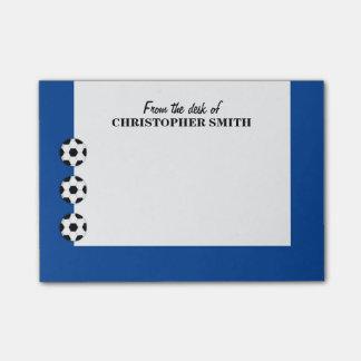 El fútbol PERSONALIZA nombre del color Nota Post-it®
