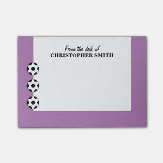 El fútbol PERSONALIZA nombre del color Notas Post-it®