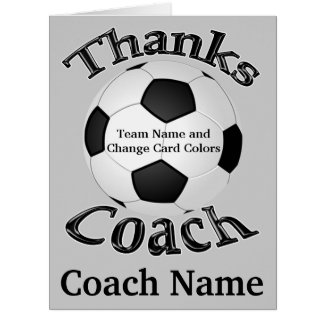 El fútbol personalizado le agradece las tarjetas, tarjeta de felicitación grande