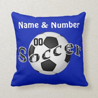 El fútbol personalizado soporta su NOMBRE y NÚMERO Almohada