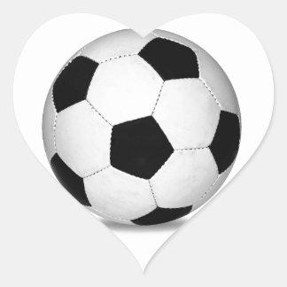 El fútbol se divierte a niños felices de la pegatina de corazón personalizadas