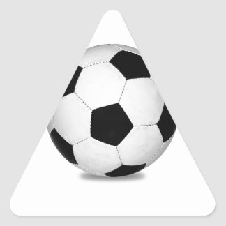 El fútbol se divierte a niños felices de la pegatinas trianguladas