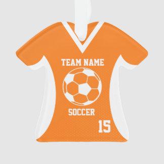 El fútbol se divierte el naranja del jersey con la