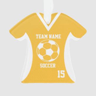 El fútbol se divierte el oro del jersey con la