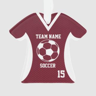 El fútbol se divierte marrón del jersey con la