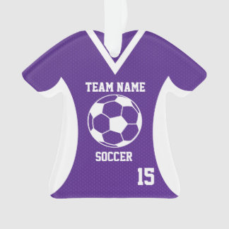 El fútbol se divierte púrpura del jersey con la