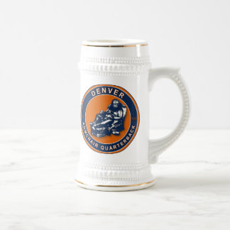 El fútbol Stein de la butaca QB Denver Tazas